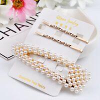 4Pcs/Set Pearl Hair Clip Comb Bobby Pin Barrette Hairpin Headdress Accessories