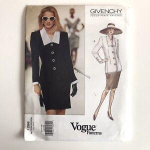 Vtg Vogue Sewing Pattern 1298 Size 12 14 16 Givenchy Career Jacket Blazer Skirt