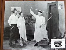 LAUREL ET HARDY PHOTO EXPLOITATION LOBBY CARD LA RENCONTRE DE LAUREL ET HARDY