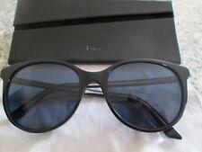 Christian Dior black / blue frame sunglasses. 16S. With case.