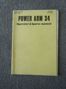 @McConnel Power Arm 34 Operator & Spare Parts Manual-April 1984@