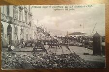 Cartolina Sicilia Messina dopo Il terremoto del 1908 Capitaneria di Porto 9/12