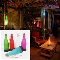 Solar LED Bottle Hanging Light Garden Tree Decro Candle Jar Lamp Night Lights