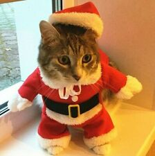 Christmas Cat Costumes Funny Santa Claus Clothes For Small Cats Dogs Xmas New Ye