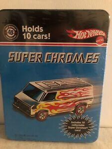 Hot Wheels 40th Anniversary Super Chromes 10 car tin