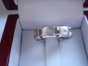 HEAVY PLATINUM JEFF COOPER VS1/G DIAMOND MENS ETERNITY BAND RING 8.75 11.9GR