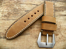 Strap for Panerai watch 24/24 mm leather vintage band handmade buckle 22 ammo