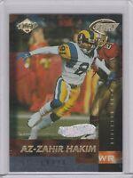 1999 Collector's Edge Fury Galvanized Rams Football Card #60 Az-Zahir Hakim /500