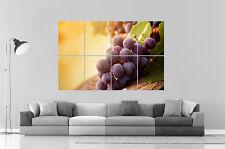 Morado grapes Racimo de uvas Wall Arte Cartel Grande formato A0 Largo Print