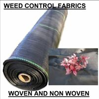 WOVEN & NON WOVEN weed control fabric mulch mat landscape garden prevention