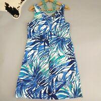 Tommy Bahama Dress Size L Large 100% Linen Sleeveless Hawaiian Print Tropical
