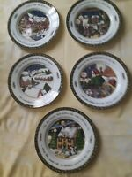 Portmeirion - A Christmas Story by Susan Winget - Set of 5 Dinner Plates