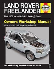 LAND ROVER FREELANDER 2 Diesel NOV 2006-2014 manuale HAYNES 5626 NUOVO