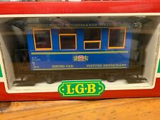 LGB 3013 G Scale Lighted Dining Passenger Coach New with Box