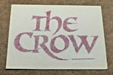 The Crow Large Logo Decal Sticker, James O'Barr Official Crowvision 1994 RARE