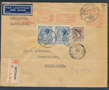 R-ENV. ROTTERDAM-BUENOS AIRES 1.V.1938 MET 32½ CT.ROODFRANK., BIJFRANK. 40 Zk370