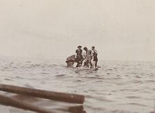Photographie ancienne 1905 Baigneurs Petit Pavillon Marseille mode mer