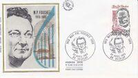 Enveloppe maximum 1er jour FDC Soie 1983 - Max Pol Fouchet Vezelay