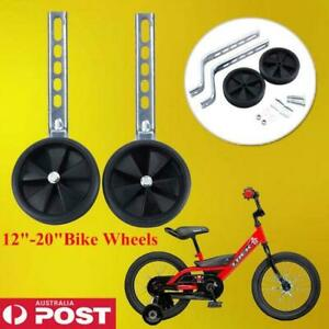 "UNIVERSAL KIDS BIKE TRAINING WHEELS Fit Adjustable 12-20"" Children Bicycle fe"