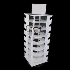 Rotating White Plastic 28 Pairs Glasses Sunglasses Display Rack Organizers
