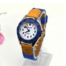 Children's Boys Girls Fabric Strap Cute Quartz Watch Wristwatch Blue