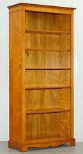 Lovely Golden Solid Walnut Library Bookcase 199Cm Tall With Adjustable Shelves