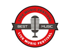 1 x adhesivo Best Music Microphone música radio micro sticker fiesta DJ Club Fete