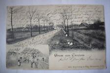Ak Gruss aus Gründann, Gasthof, Gastgarten, Dorfstrasse, 1906 gelaufen