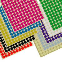 660×13mm Coloured Dot Stickers Round Spot Circles Dots Paper Labels 10 COLOURS