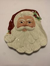 Fitz and Floyd Old Fashioned Christmas Santa cookie plate or wall hanging.