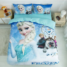 Cartoon Frozen Sister Quilt Doona Duvet Cover Set King Single Queen Size Bedding