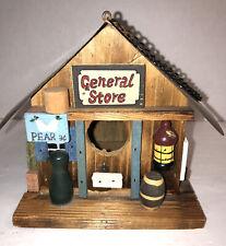 Decorative Wood Bird House General Store Detailed Farm Store Vintage Look- GANZ