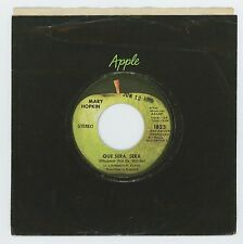 Mary Hopkin 1970 Apple 45rpm Que Sera, Sera b/w St. Etienne Paul McCartney