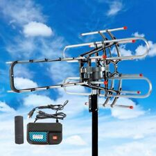 200 MILES OUTDOOR TV ANTENNA MOTORIZED AMPLIFIED HDTV HIGH GAIN 36dB UHF VHF US