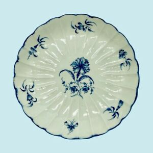 Early Worcester Porcelain Dish, Gillyflower Pattern, C1770