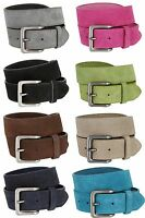 """Suede Leather Casual Jean Belts With Silver Buckle, 1-1/2"""" Wide Size 30-46!!"""