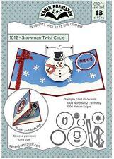 KB Riley- Karen Burniston Cutting Die Set ~ SNOWMAN TWIST CIRCLE ~3D Cards ~1012