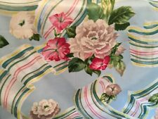 "STROHEIM ROMANN FLORAL RIBBON CHINTZ COTTON FABRIC 1 Yd., 54""w"