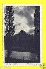 Marburg Lahn Schloss Nachtansicht Abendstimmung Dämmerung Idylle  sch/weiß 1940?
