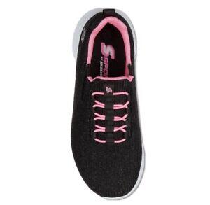 Girl Shoes Size 5 Sport By Skechers Ada Sneaker Slip-on Youth Black & Pink-NIB