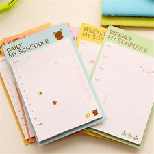 Weekly Mini Escolar Pad Memo Bookmark Sticky Notes Supply Office N Papelaria