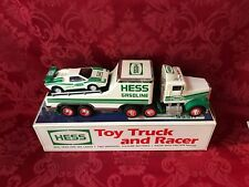 """1991 HESS """"TOY TRUCK and RACER"""" """"FORMULA ONE STYLE RACE CAR"""" WITH THE  BOX"""