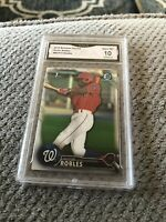 Victor Robles 2016 Bowman Chrome ROOKIE RC #BCP10 Graded 10 Mint
