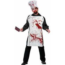 Bloody Apron and Hat Set Zombie CHEF Halloween Blood Stained Fancy Dress