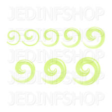 Ear Taper Stretcher - Spiral Snail | 1.6mm-10mm | Green Transparent Acrylic