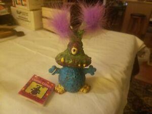 "Vintage Purple-feelie Greeble Cosmic Critter Monster Russ Berrie 1993 5"" w/ Tag"