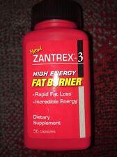 Zantrex 3 Fat Burner, High Energy,56 capsules READ BELOW Exp 04/2017-2018