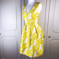 Next White & Yellow Floral Jacquard Occasion Dress 10 BNWT Summer Wedding Races