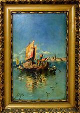 E2-063. VENICE. OIL ON BOARD. SIGNED (ADOLFO) TOMMASI (?). ITALY(?). 1898.