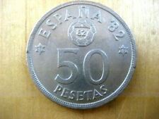 1980 50 Pesetas Espana 82 Football Coin | Spain | FIFA World Cup